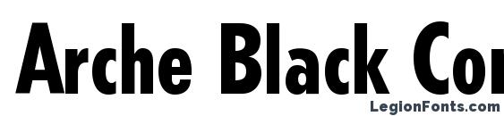 Шрифт Arche Black Condensed SSi Black Condensed