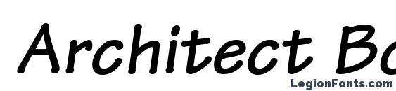 Architect Bold Italic font, free Architect Bold Italic font, preview Architect Bold Italic font