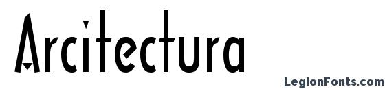 Шрифт Arcitectura