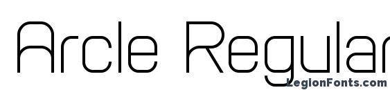 Arcle Regular Font