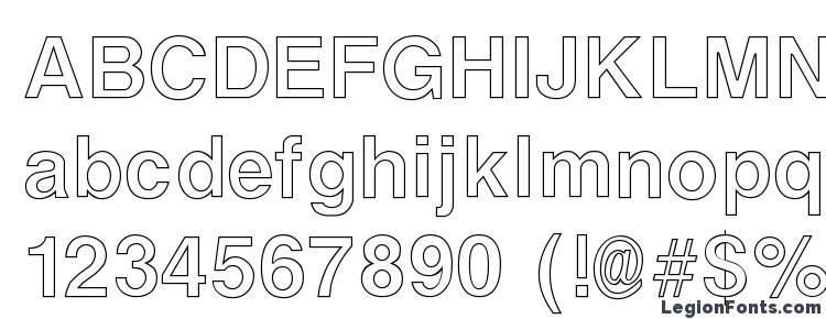 глифы шрифта ArenaOutline Regular, символы шрифта ArenaOutline Regular, символьная карта шрифта ArenaOutline Regular, предварительный просмотр шрифта ArenaOutline Regular, алфавит шрифта ArenaOutline Regular, шрифт ArenaOutline Regular
