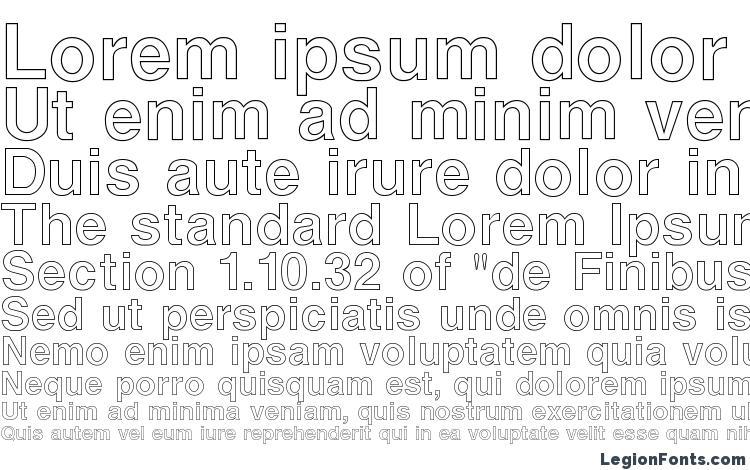 specimens ArenaOutline Regular font, sample ArenaOutline Regular font, an example of writing ArenaOutline Regular font, review ArenaOutline Regular font, preview ArenaOutline Regular font, ArenaOutline Regular font