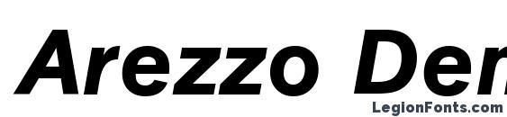 шрифт Arezzo DemiItalic, бесплатный шрифт Arezzo DemiItalic, предварительный просмотр шрифта Arezzo DemiItalic