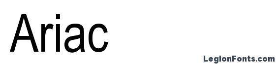 Шрифт Ariac