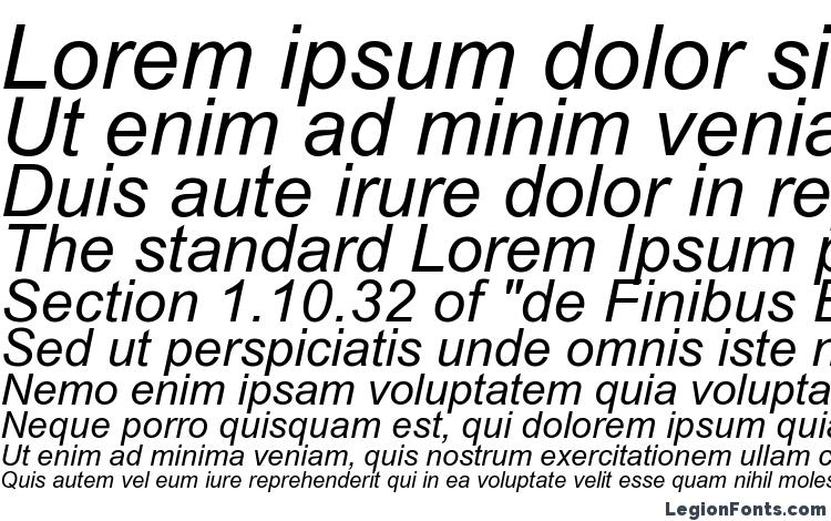 specimens Arial Italic font, sample Arial Italic font, an example of writing Arial Italic font, review Arial Italic font, preview Arial Italic font, Arial Italic font