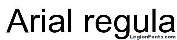 Arial regular Font