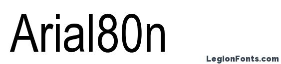 Arial80n Font
