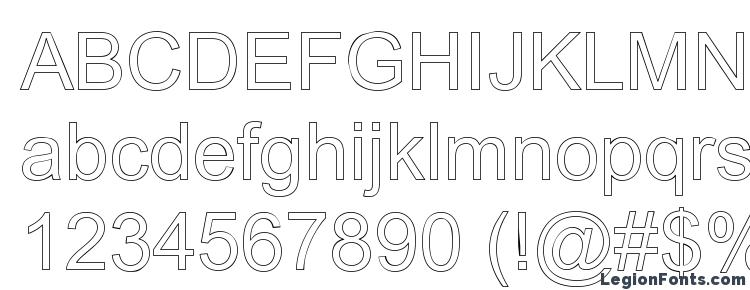 glyphs Arialic Hollow font, сharacters Arialic Hollow font, symbols Arialic Hollow font, character map Arialic Hollow font, preview Arialic Hollow font, abc Arialic Hollow font, Arialic Hollow font
