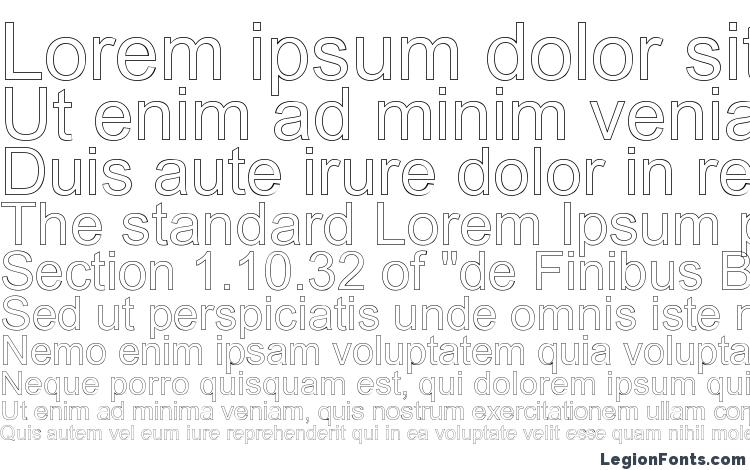 specimens Arialic Hollow font, sample Arialic Hollow font, an example of writing Arialic Hollow font, review Arialic Hollow font, preview Arialic Hollow font, Arialic Hollow font