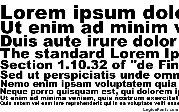 specimens Ariblk font, sample Ariblk font, an example of writing Ariblk font, review Ariblk font, preview Ariblk font, Ariblk font