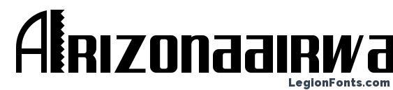 Arizonaairwaysnf Font, African Fonts