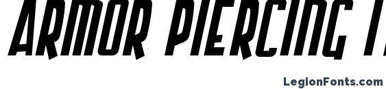 Шрифт Armor Piercing Italic
