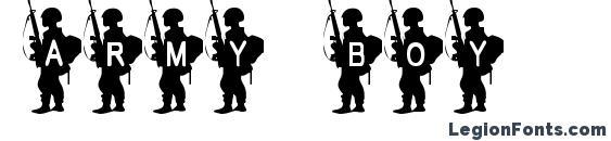 Army Boy font, free Army Boy font, preview Army Boy font