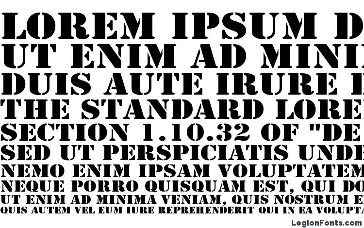 specimens Army Wide font, sample Army Wide font, an example of writing Army Wide font, review Army Wide font, preview Army Wide font, Army Wide font