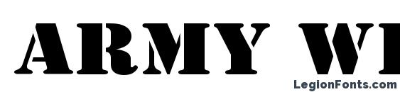 Army Wide Font