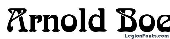 Arnold Boecklin LT Font