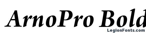 Шрифт ArnoPro BoldItalic18pt