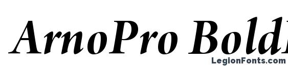 ArnoPro BoldItalic36pt Font, Russian Fonts