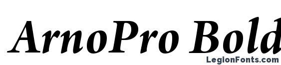 ArnoPro BoldItalicSubhead Font
