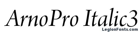 ArnoPro Italic36pt Font