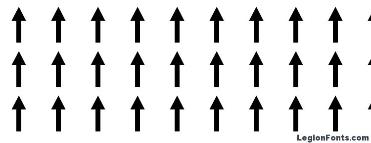 глифы шрифта Arrows1, символы шрифта Arrows1, символьная карта шрифта Arrows1, предварительный просмотр шрифта Arrows1, алфавит шрифта Arrows1, шрифт Arrows1