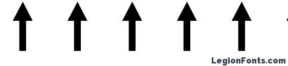 Шрифт Arrows1