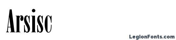 шрифт Arsisc, бесплатный шрифт Arsisc, предварительный просмотр шрифта Arsisc
