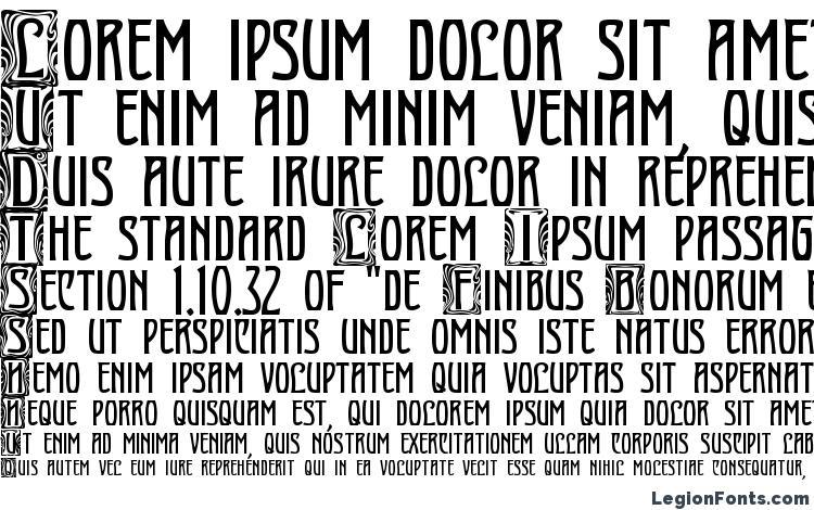 образцы шрифта Art Nouveau Initial, образец шрифта Art Nouveau Initial, пример написания шрифта Art Nouveau Initial, просмотр шрифта Art Nouveau Initial, предосмотр шрифта Art Nouveau Initial, шрифт Art Nouveau Initial