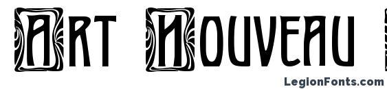 Шрифт Art Nouveau Initial