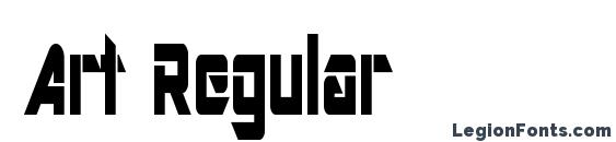 Art Regular Font