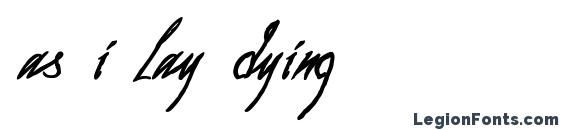 as i lay dying font, free as i lay dying font, preview as i lay dying font