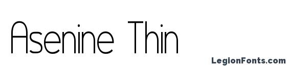 Asenine Thin font, free Asenine Thin font, preview Asenine Thin font