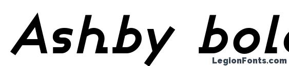 Ashby bold italic Font