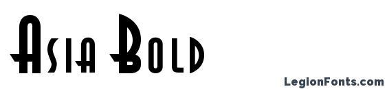 Шрифт Asia Bold