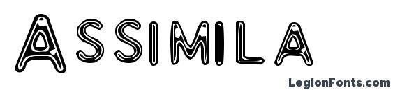 Шрифт Assimila