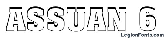 Шрифт Assuan 6