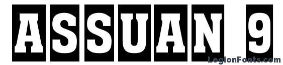Assuan 9 Font, Russian Fonts