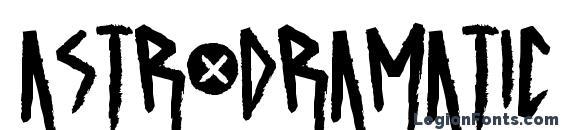Шрифт ASTRODRAMATIC