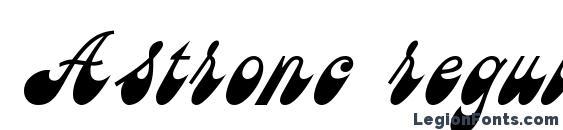 Astronc regular Font, Russian Fonts