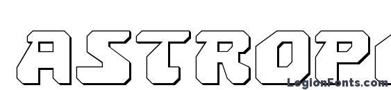 Astropolis 3D Font