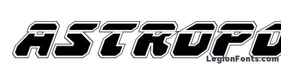 Шрифт Astropolis Laser Academy Italic