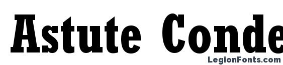 Шрифт Astute Condensed SSi Bold Condensed