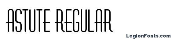 Astute Regular Font