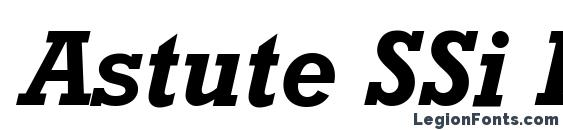 Astute SSi Bold Italic Font