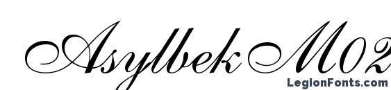 AsylbekM02Shelley.kz Font, Cursive Fonts