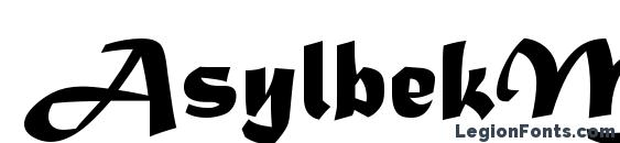 AsylbekM08Matura.kz Font, Cool Fonts