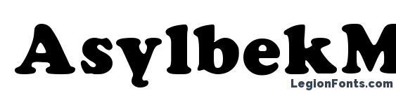 AsylbekM21Cooper.kz Font, Russian Fonts