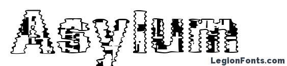 Шрифт Asylum, Симпатичные шрифты