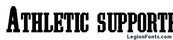 Athletic supporter Font, All Fonts