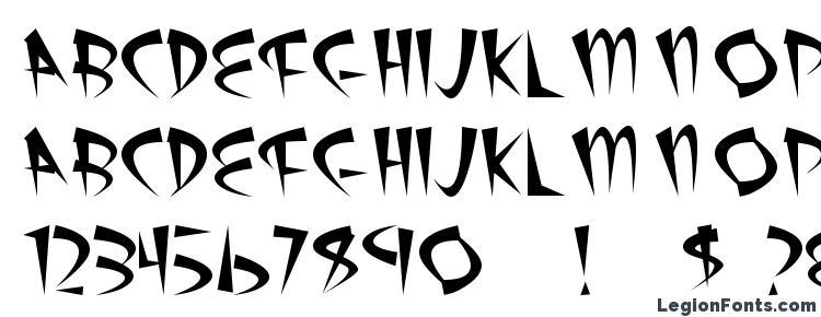 глифы шрифта Atomic Sushi, символы шрифта Atomic Sushi, символьная карта шрифта Atomic Sushi, предварительный просмотр шрифта Atomic Sushi, алфавит шрифта Atomic Sushi, шрифт Atomic Sushi